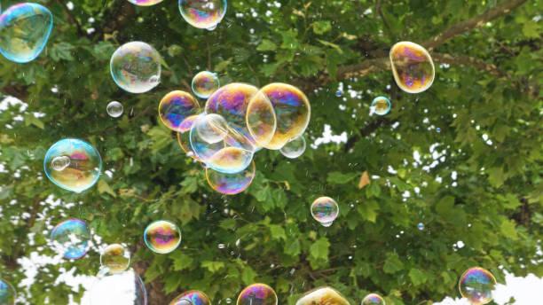 Bubbles in Flight 4 stock photo