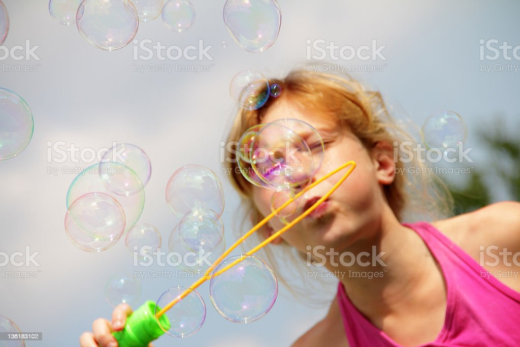 bubbles in focus stock photo