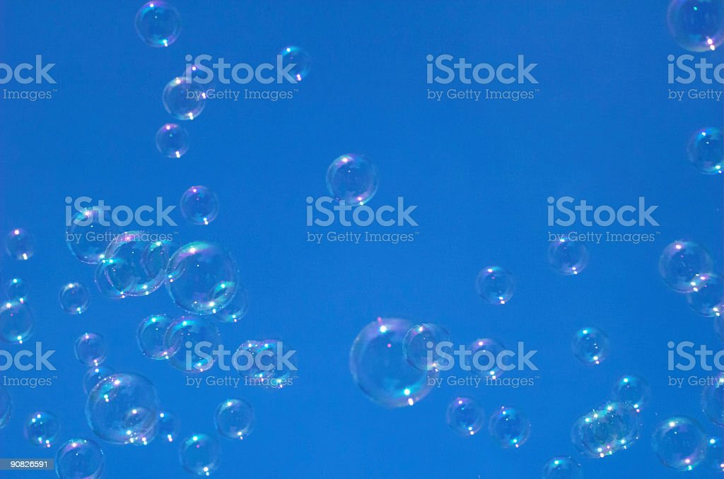 bubbles in sky royalty-free stock photo