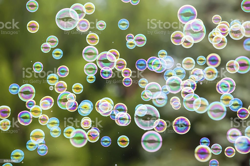 Bubbles In the Air royalty-free stock photo