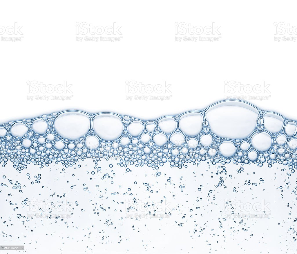 Bubbles in the water stock photo