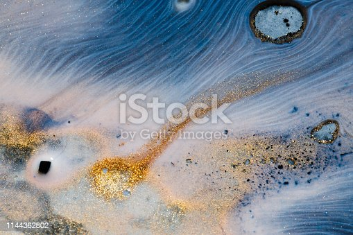 istock Bubbles of acrylic paint and oil 1144362802