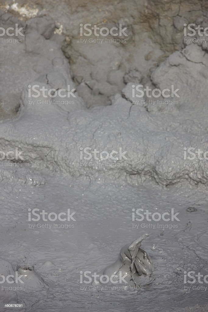 Bubbles of boiling mud in Iceland. royalty-free stock photo