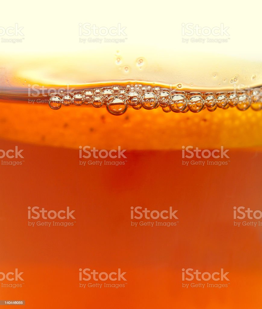 Bubbles of tea stock photo