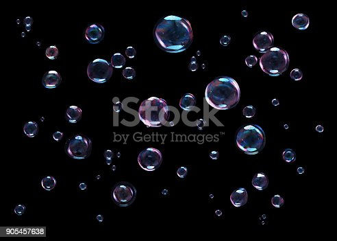 istock Bubbles on black background 905457638