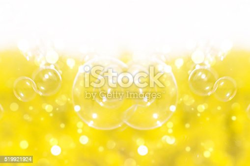 istock Bubbles on yellow flowers background. 519921924