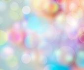 Colorful soap bubbles background.Childhood design blur illustration.Easter spring party positive wallpaper.Raibow colors.