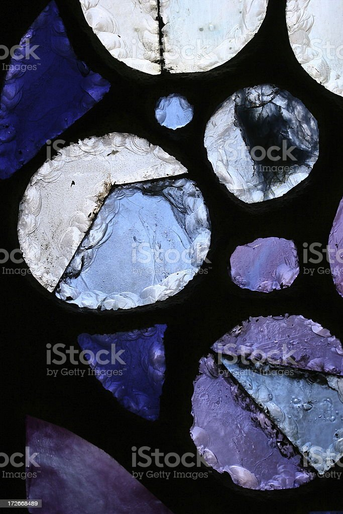 Bubbles Stained Glass Detail stock photo