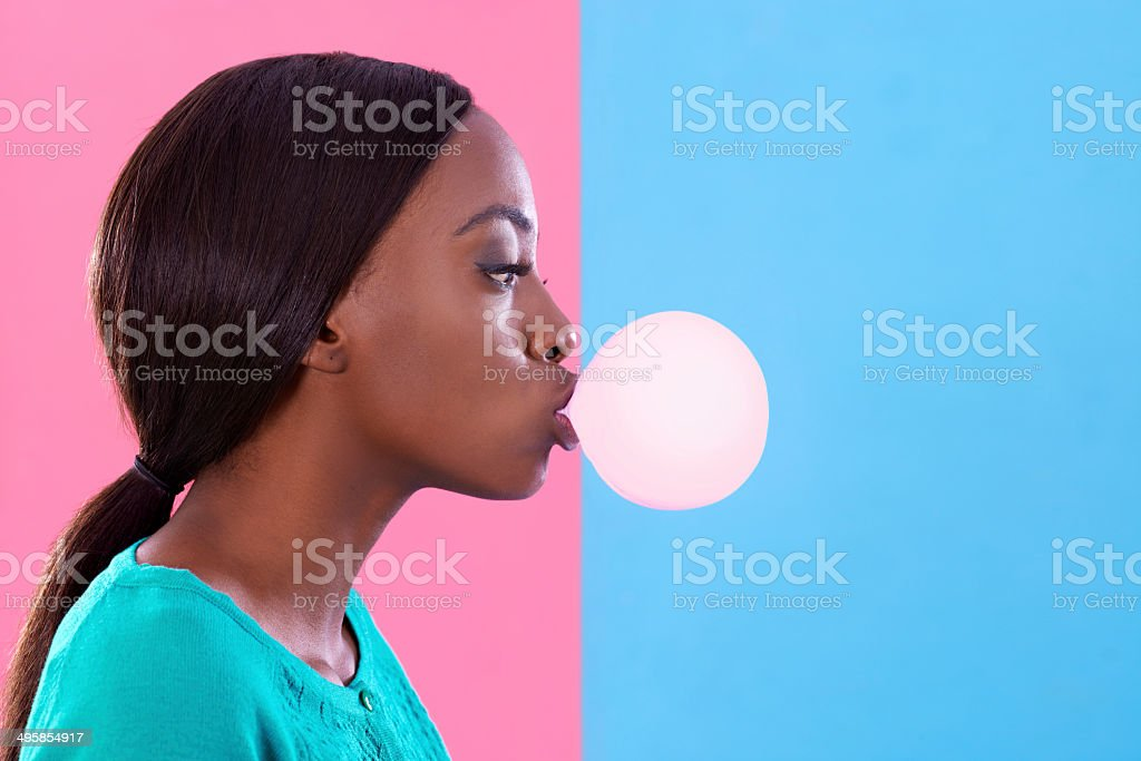 Bubblicious! stock photo