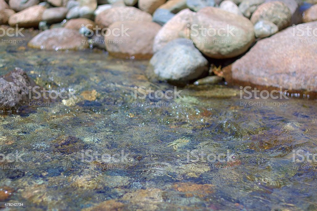 Bubbling brook stock photo