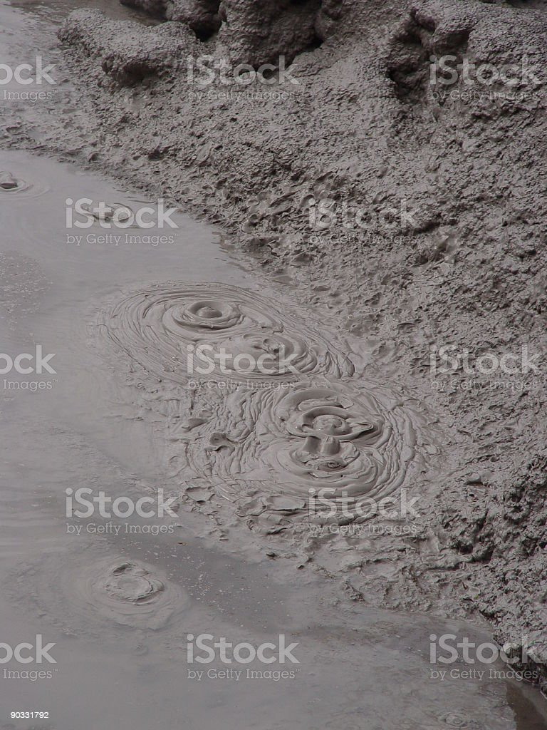Bubbling GeoThermal Mud Texture stock photo