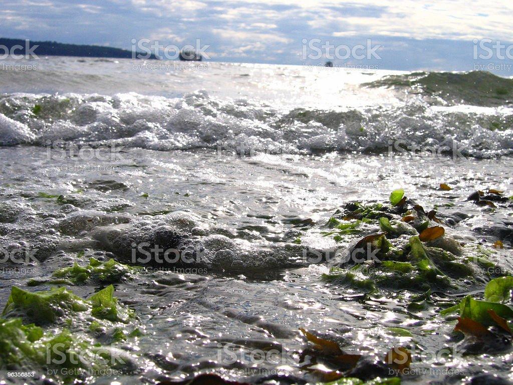 bubbling ocean waves stock photo