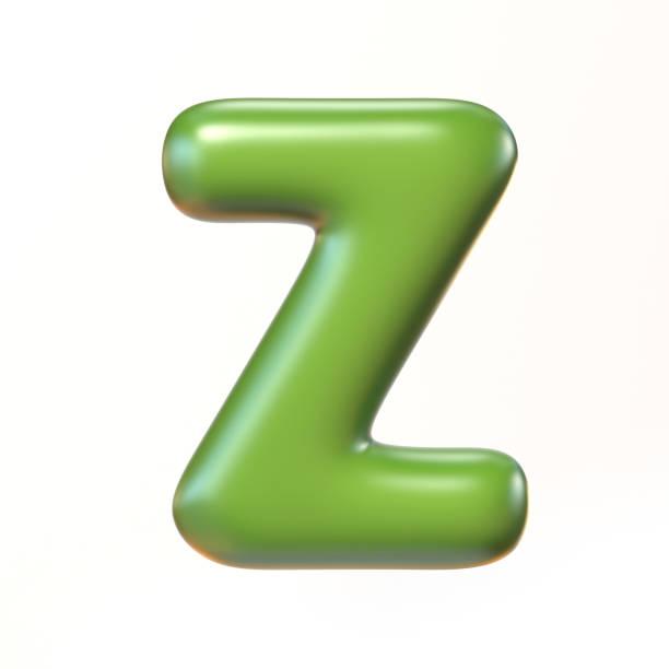 Bubbly 3d font letter Z stock photo