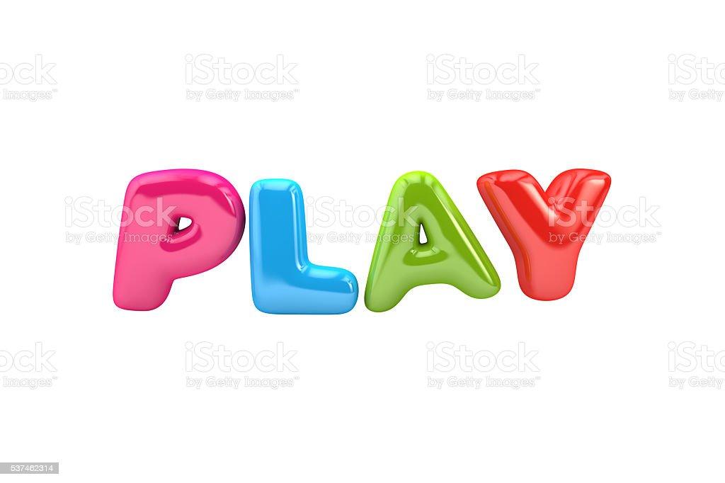 Bubbly Play word stock photo