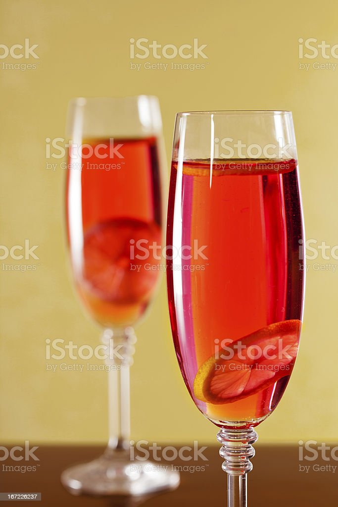 Bubbly Red Drink royalty-free stock photo