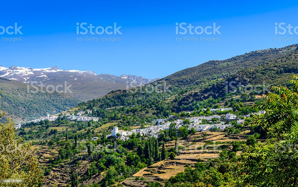 Bubion and Capileira Villages stock photo