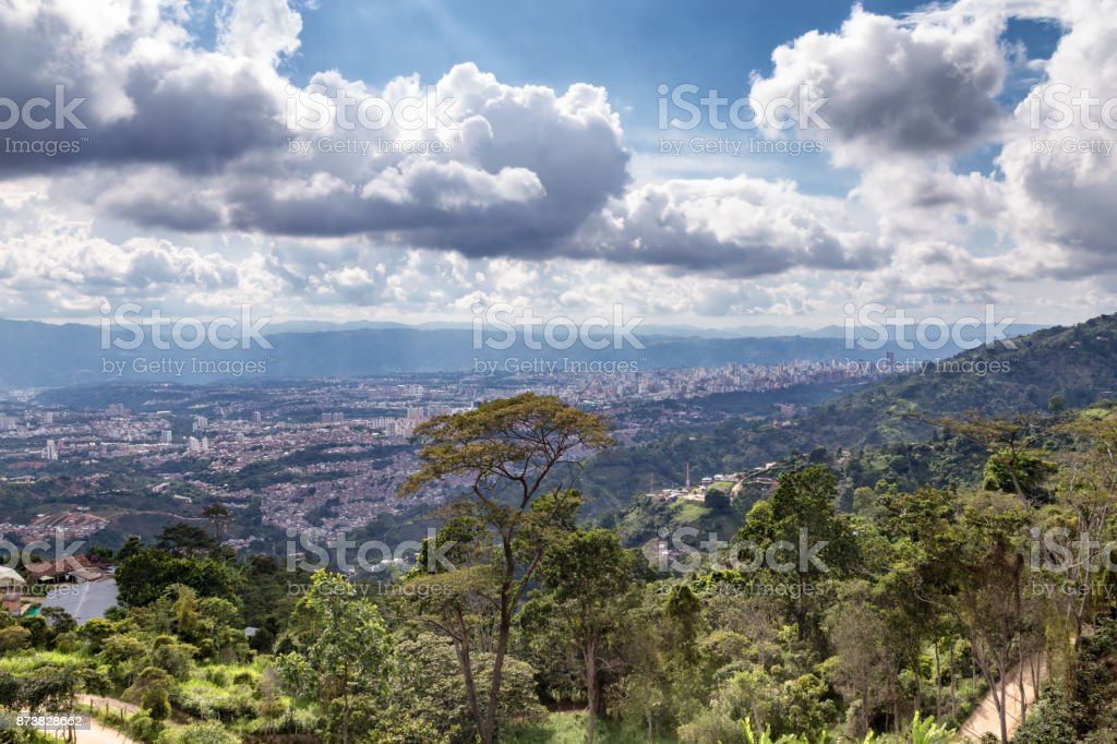 Bucaramanga view stock photo