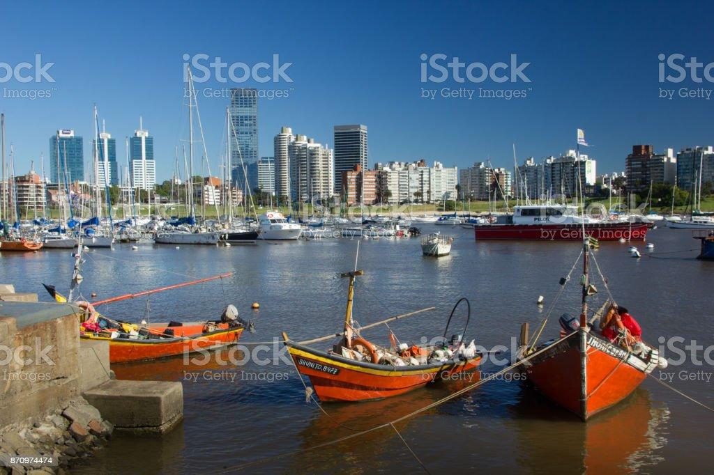 Buceo Dock - Montevideo (Puerto del Buceo) stock photo