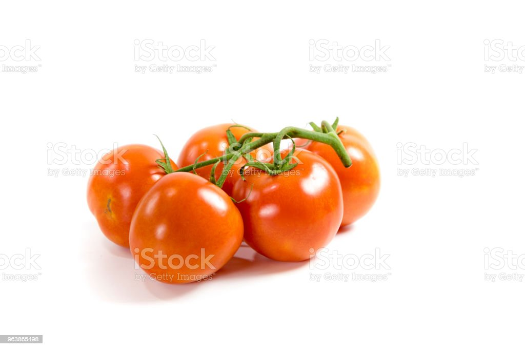 Buch of tomatoes on white background - Royalty-free Bunch Stock Photo