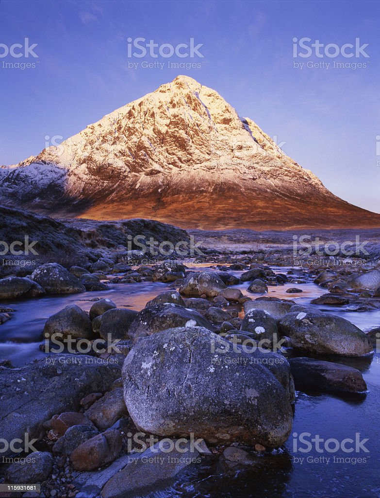Buchaille Etive Mhor at Sunrise stock photo