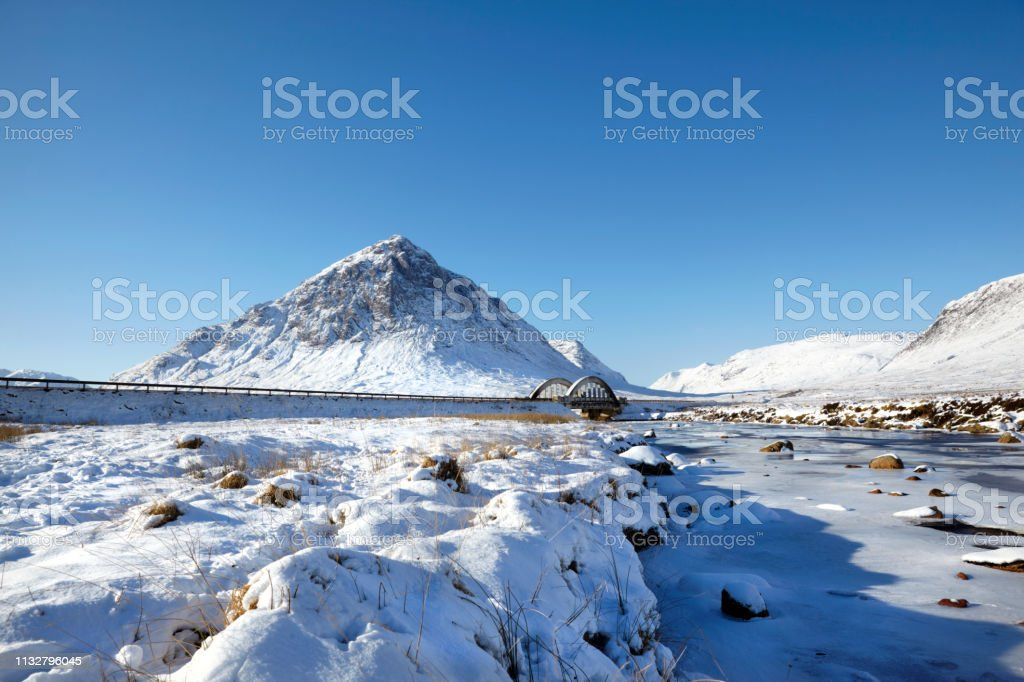 Buchaillie Etive Mor, River Etive, Glencoe, Scottish Highlands, Scotland, UK stock photo