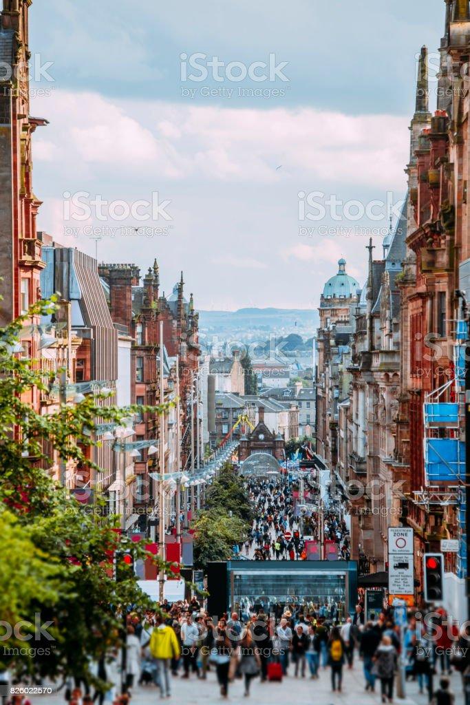 Buchanan Street, Glasgow stock photo