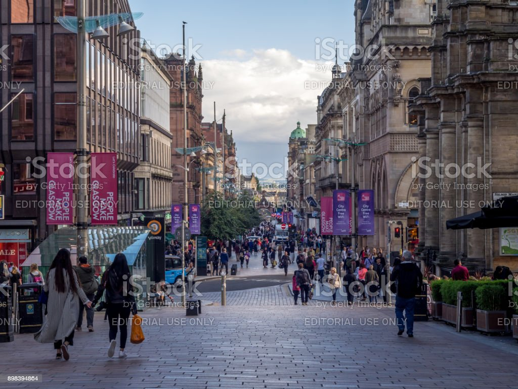 Buchanan Street, Glasgow - foto stock