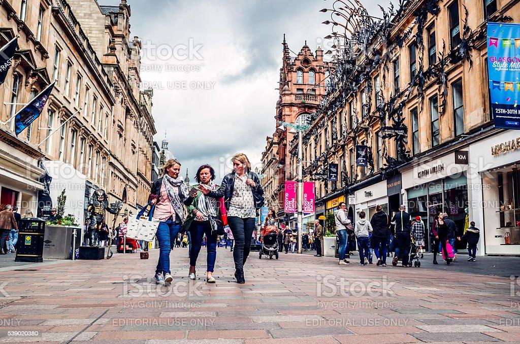 Buchanan Street, Glasgow, United Kingdom stock photo