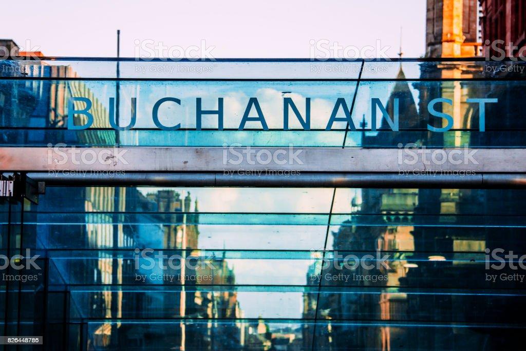 Buchanan Street stock photo