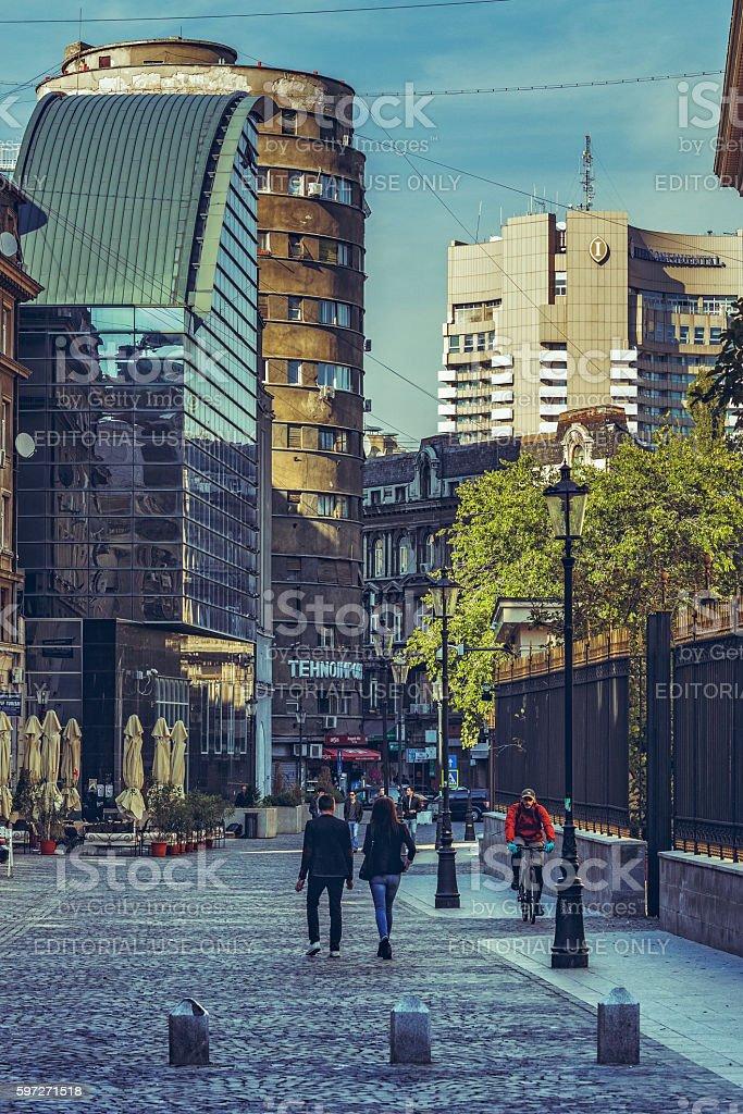 Zentrum von Bukarest Lizenzfreies stock-foto