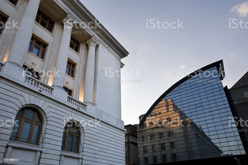 Bucharest National Bank, Romania royalty-free stock photo