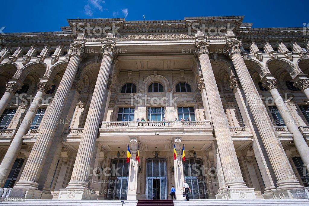 Bucharest Palace of Parliament stock photo