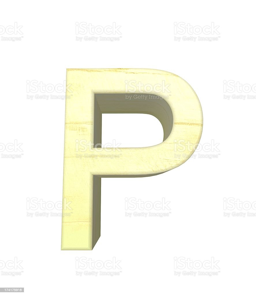 Buchstabe P royalty-free stock photo