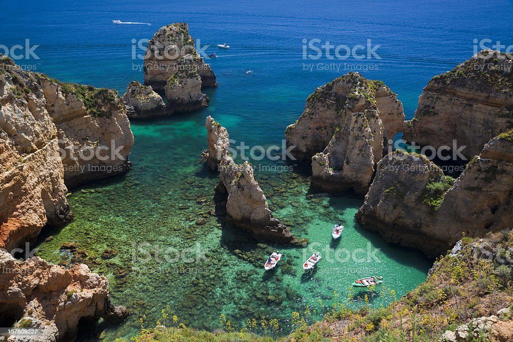 Bucht, Ponta da Piedade stock photo