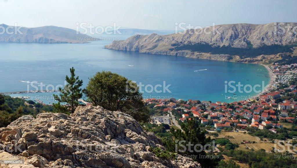 bucht von baska, kroatien – Foto