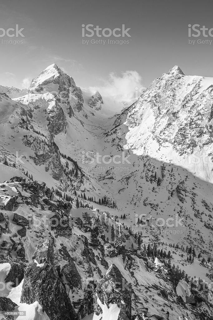 Buck mountain from 10,000 feet stock photo