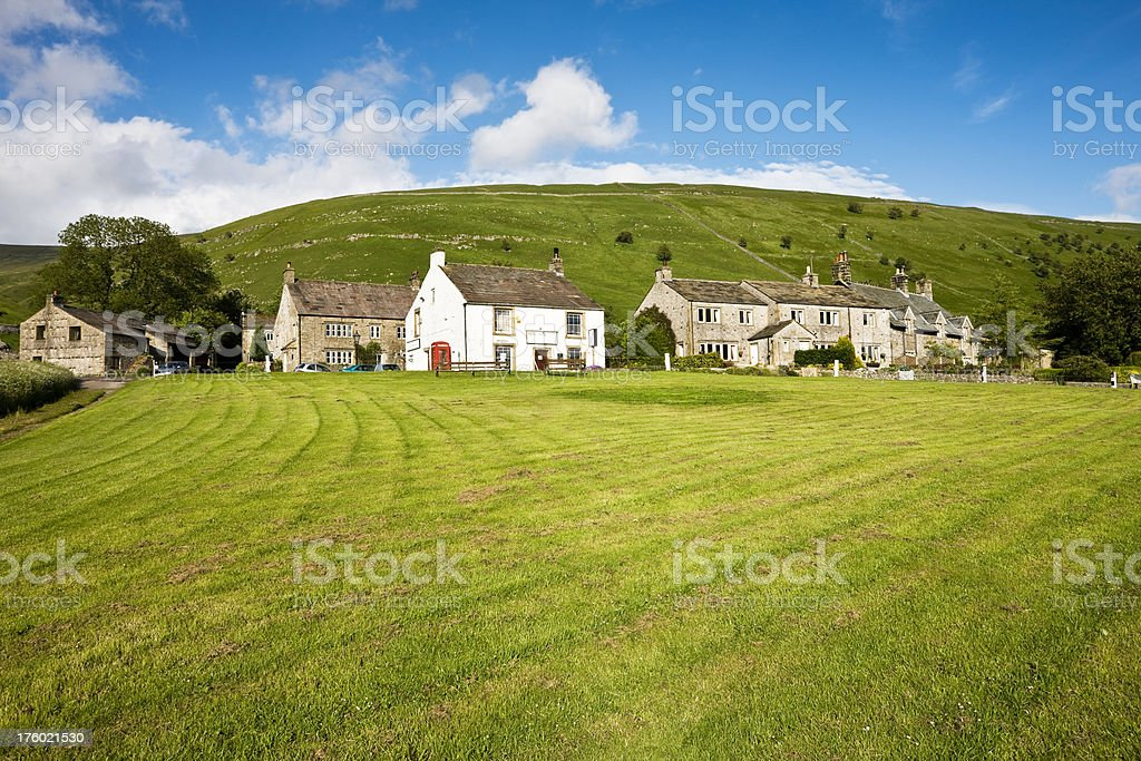 Buckden Village in the Yorkshire Dales stock photo
