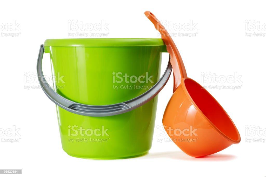 Bucket and ladle stock photo