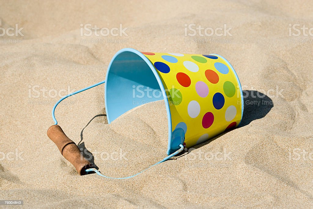 Bucket and sand 免版稅 stock photo