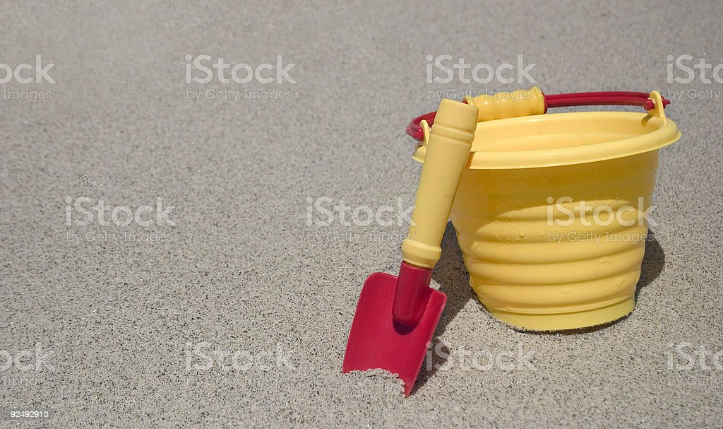 Bucket and Sand royalty-free stock photo