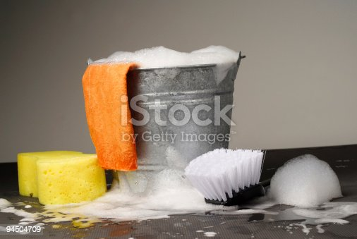 istock Bucket and Supplies for Car Wash 94504709