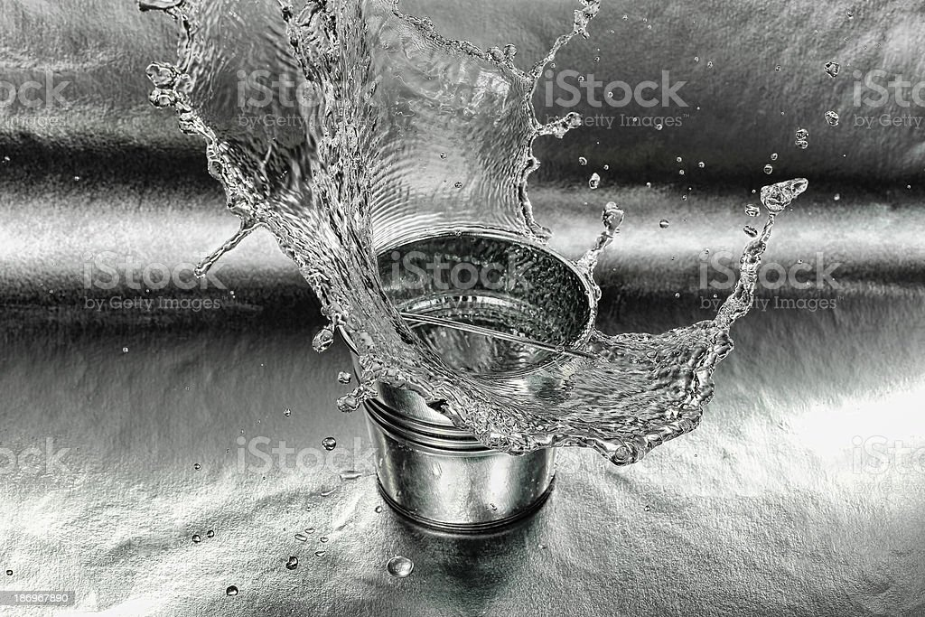 bucket and water stock photo