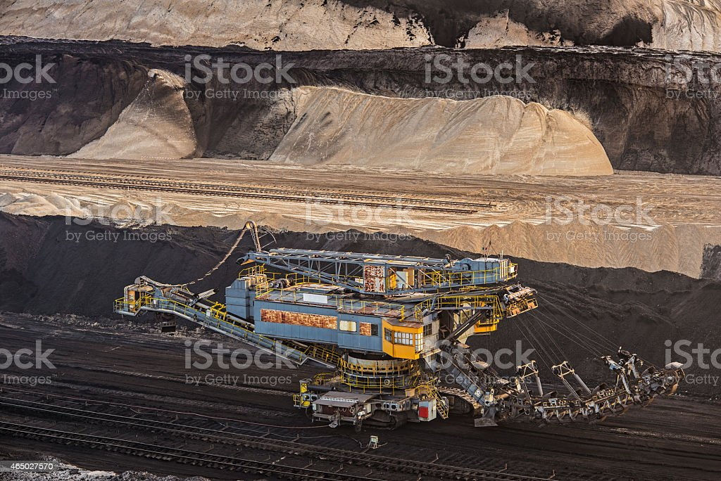 Bucket chain excavators - Lignite mining stock photo