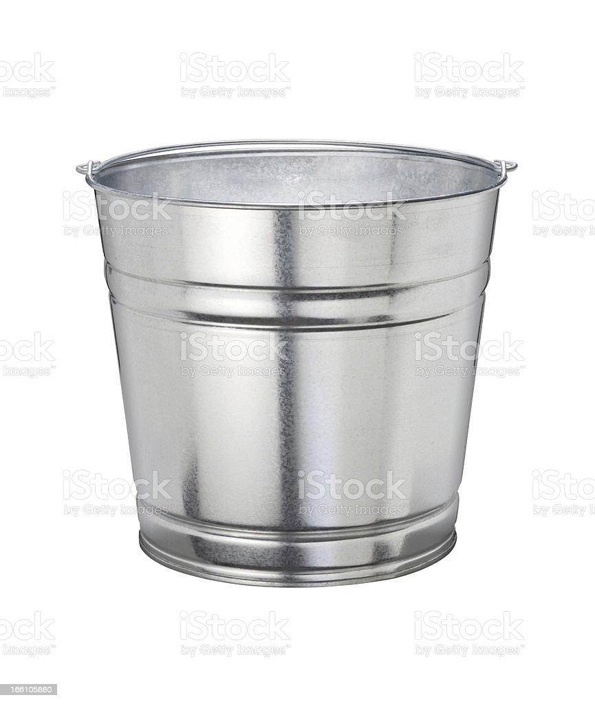 Bucket isolated with a clipping path​​​ foto