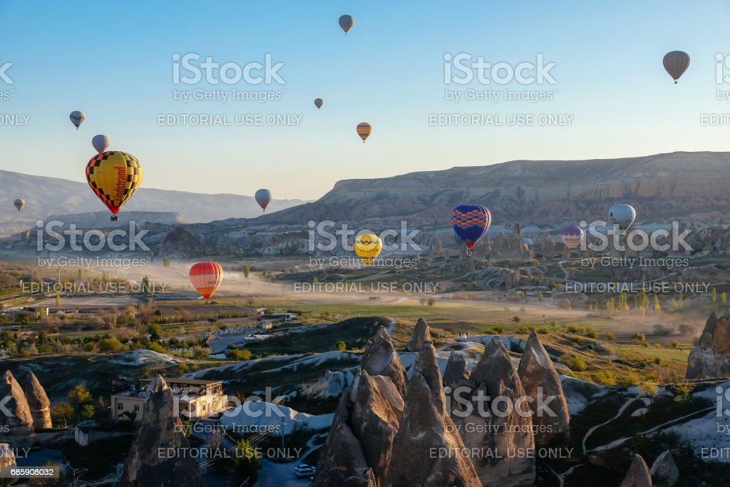 Bucket list Cappadocia stock photo