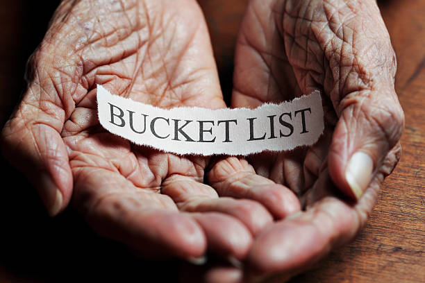 Bucket List stock photo