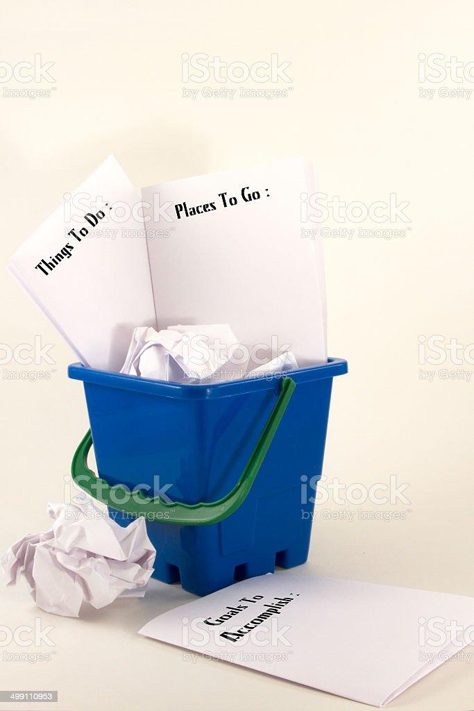 Bucket Lists stock photo