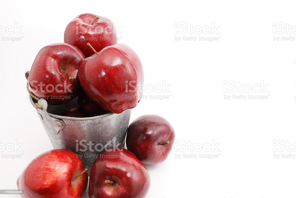 Bucket of Apples royalty-free stock photo