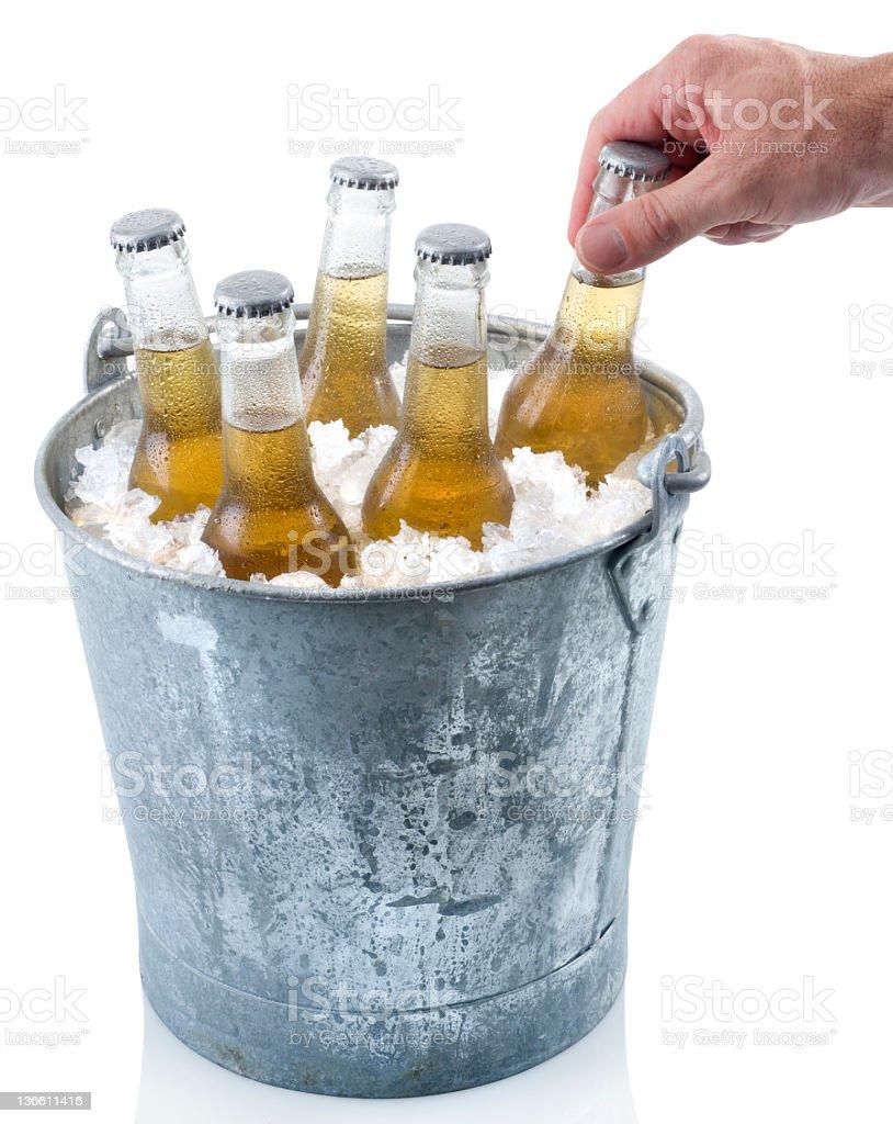Bucket of Beer royalty-free stock photo