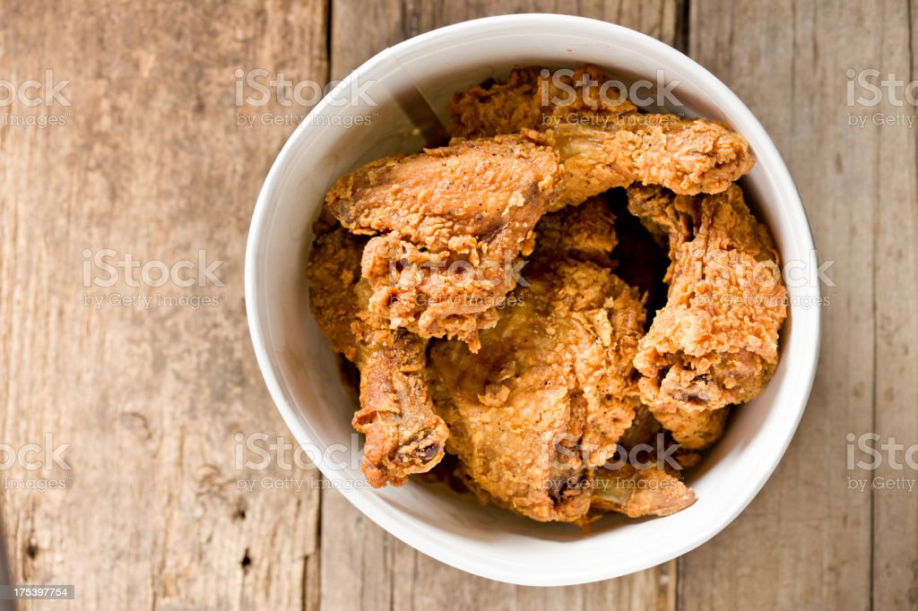Bucket Of Fried Chicken royalty-free stock photo